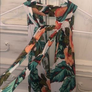 O'Neill Pants - Tropical Romper with open back!